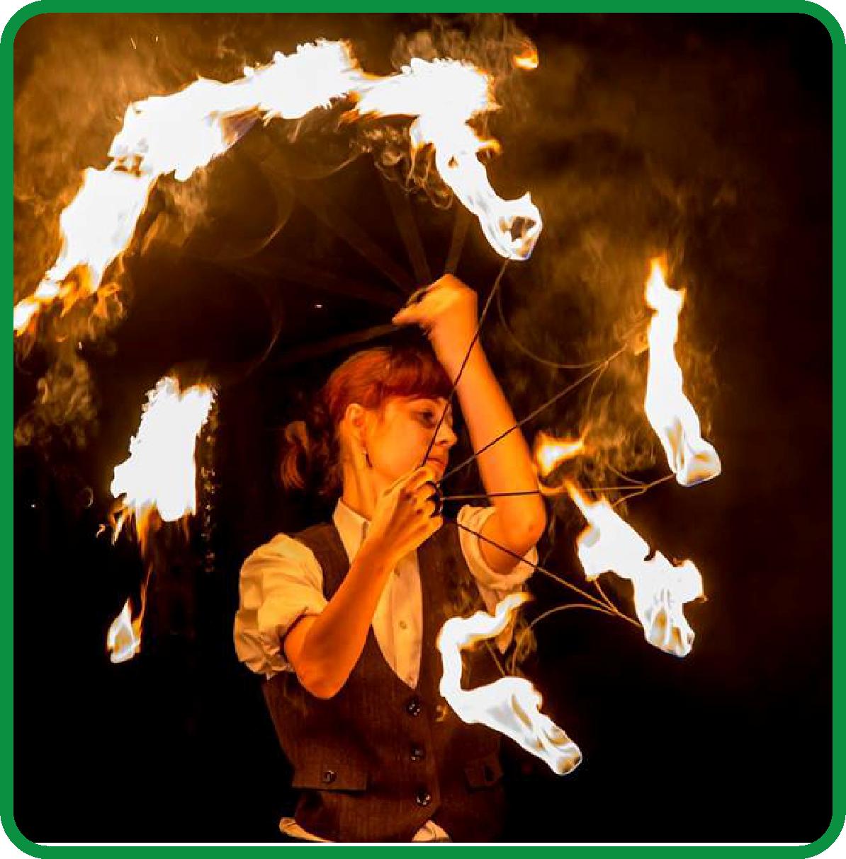 Szczudlarze, fireshow 14
